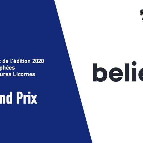 Believe le Grand Prix des Futures Licornes 2020